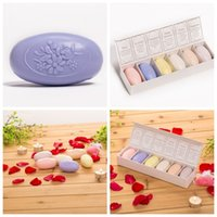 Wholesale Lavender Soaps - Natural Rose Lavender Hand Soap Artistic Scented Heat Egg Baby Shower Soaps Wedding Favors Gifts With Gift Box Pack 151oy A R