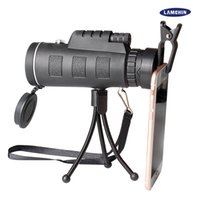 caméras monoculaires achat en gros de-40x60 mini trépied télescope vision nocturne monoculaire télescopie téléphone caméra vidéo avec compas trépied clip de téléphone