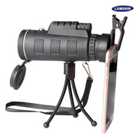 Wholesale Wholesale Monocular - 40x60 Mini Tripod Telescope Night Vision Monocular Telescopie Phone Camera Video With Compass Tripod Phone Clip