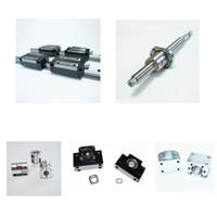 Wholesale Single Ballnut - Rolled ballsrew RM1605+single ballnut+ BK BF12 end support+nut holder+coupler+TRH15 TRH20 linear guide rail