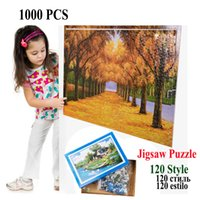 Wholesale Scenery Puzzles - 1000pcs Paper Jigsaw Puzzle Cartoon Scenery Famous Painting Stickers Creative Gift Can Customized