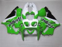 Wholesale kawasaki zx7r green white fairing - Hot sale motorcycle Fairing kit for Kawasaki Ninja ZX7R 96 97 98 99 00-03 green white black fairings set ZX7R 1996-2003 OY13
