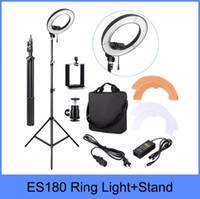 """Wholesale Ring Videos - Wholesale-ES180 180 LED 18"""" Stepless Adjustable Ring Light Camera Photo Video 180pcs LED 5500K Dimmable+ phone clamp + stand"""