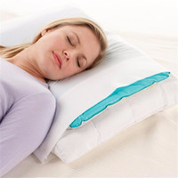 soğutma jel pedleri toptan satış-Toptan-Yaz Buz Pedi Masaj Terapi Uyku Yardım Eklemek Chillow Ped Mat Kas Rölyef Soğutma Jel Yastık