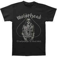 Wholesale Different Shirt - Motorhead Men's 4951 Vintage Vintage T-shirt Black Original Tops Novelty T Shirt Short Sleeve Different Colours High Quality