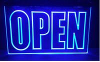 ingrosso segni di visualizzazione aziendale-APERTA nuovo Display Cafe Business NUOVI segni di intaglio Bar LED Neon Sign casa arredamento artigianato