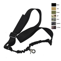 Nylon paintball gun camo - Outdoor Sports Army Hunting Camo Gear Rifle Shooting Paintball Gear Airsoft Strap Gun Lanyard Single Point Tactical Sling SO12