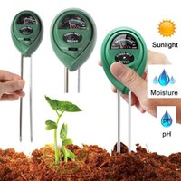 ingrosso luci del giardino pot-Misuratore di umidità del suolo 3 in 1 Misuratore di umidità del suolo / Luce / Valore pH Strumento per il potenziometro del pot da giardino Strumento per giardini da giardino In magazzino WX9-31