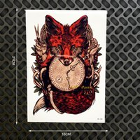 Compra Corpi Auto Decor-All'ingrosso Sexy Red Fox Design Flash Tattoo Body Art manica del braccio tatuaggi adesivi GHB388 falso lupo Tatoo auto parete selfie Styling Home Decor