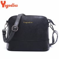 Wholesale Dress Shell Pink - uggage Bags Handbags Yogodlns New fashion women's messenger bag scrub shell bag Nubuck Leather small bags over the shoulder women purses ...