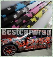 Wholesale carbon 3d cars resale online - VARIOUS Colors Digita Camo Vinyl Car Wrap Film With Air release Tiger Camouflage Truck wraps covering styling Foil size x30m Roll x98ft
