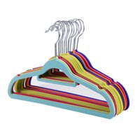 Flocking Hangers Non Slip Trace Magic Clothes Hanger Neatening Coat Krawatte Racks Adult Home Supplies Multi Color Option 1 2ld D R