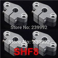 Wholesale Linear Support 8mm - Wholesale- New 12 pcs lot SHF8 8mm linear shaft support linear rail support CNC parts XYZ