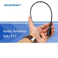 Venda por atacado- Antena de rádio 771 Baofeng Walkie Talkie Gain Antenna SMA-F Dual Band UHF VHF Rádio CB para UV-5R BF-888S UV-5RE UV82