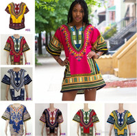 Wholesale Dashiki New African Clothing Traditional Print Tops Fashion Design African Bazin Riche Clothes Dashiki T shirt For Men Women b506