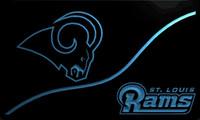 бесплатные барные вывески оптовых-LS2047-b-Rams-bar-Neon-Light-Sign Decor Бесплатная доставка Dropshipping Оптовая 6 цветов