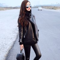 Wholesale Winter Leather Coats For Sale - Leather Coat 2016 Fashion Thicken Hot Sale PU Leather Coat For Women Autumn And Winter New Style Leather Jackets Women WLL0318