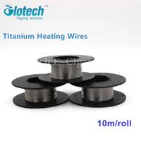 alambre de titanio vaporizador al por mayor-Venta al por mayor-10m / roll 28Guage (0.32mm) Alambre de titanio Cables de calefacción para narguile electrónico RDA RBA Atomizador Vaporizador preconstruido Bobina de cables