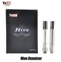 Wholesale Clearomizer Wax - Authentic Yocan Hive Atomizer Wax Vaporizer Oil Cartridges No Leakage Design Tank Plastic Tube Packed Clearomizer