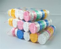Wholesale Contact Lens Case Color - Free Shipping- wholesale 100pcs Contact Lens Case color contact transparent with colors contact lens cases left and right different color