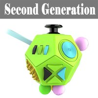 Wholesale Ball Dices - Magic Cube Fidgets Metal Dice Second Generation Toys Products Anti-Anxiety Relief Ultimate 12-Sided Stress Balls