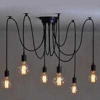 luces colgantes suaves al por mayor-Hardwired Vintage suave colgante de luz Edison Industrial lámpara con barra suave restaurante dormitorios E27 arte colgante de la lámpara # 01