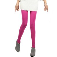 Wholesale Opaque Tights Winter - Wholesale- Spring And Autumn Winter Pantyhose Kawaii Cute Tights 120D Velvet Seamless Collant Candy Color Opaque Collant Women Tights