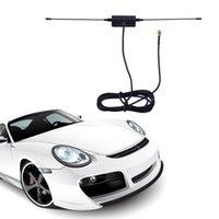 Wholesale Isdb Car Tv - GPS Car Digital TV Antenna 5ft In Car Radio Digital DVB-T ISDB-T TV Signal 6dBi Antenna 433MHZ + Amplifier Newest 2017