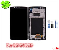Wholesale Touch Screen G4 - 1pcs Original Qualtiy For LG G4 H810 H815 LCD screen panels Touch Screen Digitizer Assembly with & without Frame gift tools