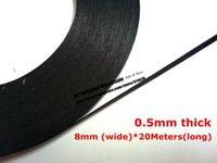 Wholesale Foam Adhesive Glue - Wholesale- 2016 (8mm wide) (0.5mm thick) Roll Adhesive Tape, Double Sided Glue Black Sponge Foam Tape for Phone Tablet Mini Pad Dust proof