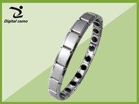 ingrosso bracciale in titanio-charm bracelets 2pcs Energy Bracelet Balance Mens Titanium Power Nano Energy 80 Germanio