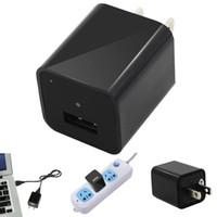Wholesale Camera Pen 8gb - 1pcs 8GB Mini AC Adapter US Plug USB Pen Charger Hidden Spy Video Camera Loop Record