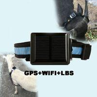 Wholesale Gps Solar Power - V26 Mini GPS Tracker Solar Power Charger Pet GPS Tracker Location Locator Anti-lost for Farm Horse Sheep AT
