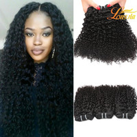 Wholesale natural colored hair resale online - Grade A Peruvian Kinky Curly Hair Bundles g Piece Can Be Colored inch Natural Hair Weaving Unprocessed Curly Human Hair Weaves
