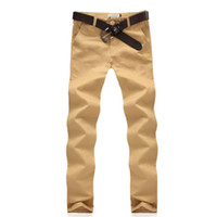 Wholesale chino trousers - Wholesale-2016 New Casual Chino Khaki Men Pants Casual Fashion Clothing New Design High Quality Cotton Trousers for men