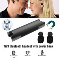 Wholesale iphone charging dock black for sale - S2 TWS Twins Bluetooth Earphones IPX7 Waterproof Mini Double Ear Headsets Binaural Ear buds With Charging Dock For Universal Phones