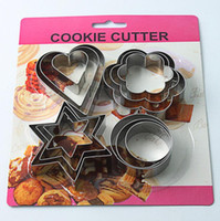Cookie Moulds blister material - 4 pattern pieces cookie cutter set cookie moulds size of each shape stainless steel material blister packing