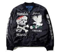 605c52779d98 sukajan jacket großhandel-KMO neue Japan Hip Hop Kleidung Männer Kleidung  Fleece Mäntel Kanye West