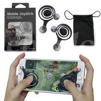 Wholesale ipad joystick games - Universal Mini Mobile Joystick Dual Analog Joysticks Samrtphone Game Rocker Touch Screen Joypad Controller For iPad iPhone7 Samsung Free DHL