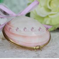Wholesale Beach Shells Crafts - Free Shipping(1pcs lot)Pink Shell Jewelry Box Natural Shell Beach Wedding Ring Bearer Handmade Shell Crafts Bridesmaid Gift