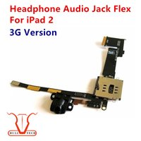 Wholesale Iphone 3g Headphones - Headphone Jack Audio Flex Cable w SIM Card Slot Socket for Apple iPad 2 3G Version DHL Free Shipping