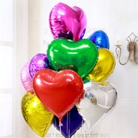Amazing New Heart Shaped Balloons 45cm 18inch Party Wedding Inflatable Foil Balloon  Valentine Day Xmas Kids Gift UK