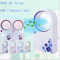 Wholesale Mini Conditioned Air - Office Portable Handheld Mini Usb Fan Electric Bladeless Cooler Air Condition