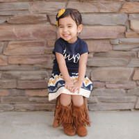 Wholesale Wholesale Childrens Outfits - Wholesale ins Girls Baby Childrens Clothing Sets Cotton t-shirts+ Geometry Tutu Dress Sets Outfits Kids Clothes