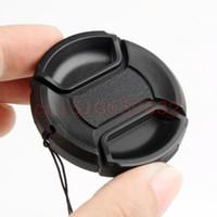 Wholesale center filter - Wholesale-52mm Center Pinch Snap-on Front Lens Cap For pentax k30 KR KX KM K7 K10D K100D K20D K200D 18-55mm Lens Filters
