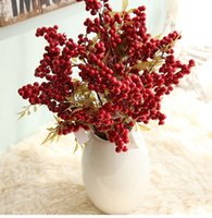50PCS / Lot Artificial Berry Flower Craft Simulation Fake Flowers for Bedding Sets mariage chambre chambre table décoration et fournitures