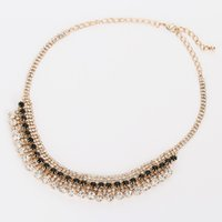 Wholesale Crystals For Decorating - YFJEWE Luxury Fashion crystal pendant necklace temperament pretty woman pendant decorated for wedding party N091
