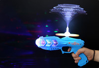 Wholesale Sound Light Toy Guns - 20151027 New Popular Fun Kid Electric sound Optical fiber Gun Projection Image Creation Lighting Toys Children Gift