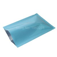 Wholesale Wholesale Packing For Coffee - 7x10cm(2.75x4in) 100x Tear Notch Glossy Blue Aluminum Foil Mylar Open Top Food Storage Packing Bag For Coffee Candy Tea