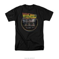 Wholesale Back Future Shirt - Wholesale- Back To The Future Movie Logo Delorean men Adult T Shirt Short sleeve 100% Cotton man tee tops